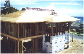 [Completion of roof sheathing]