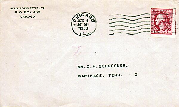 [Washington Stamp on Cover]