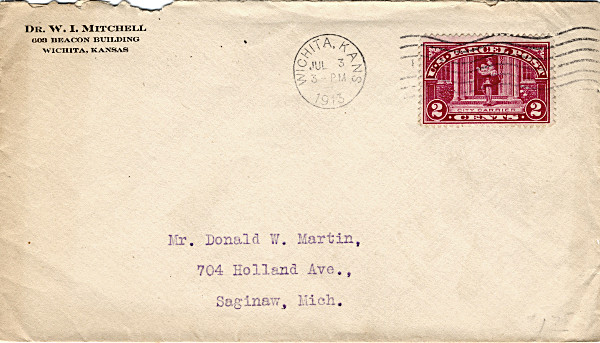 [Parcel Post Stamp on Cover]
