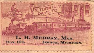 [Early Return Address Label, 1901]