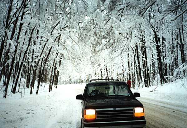 [Winter Road Scene]