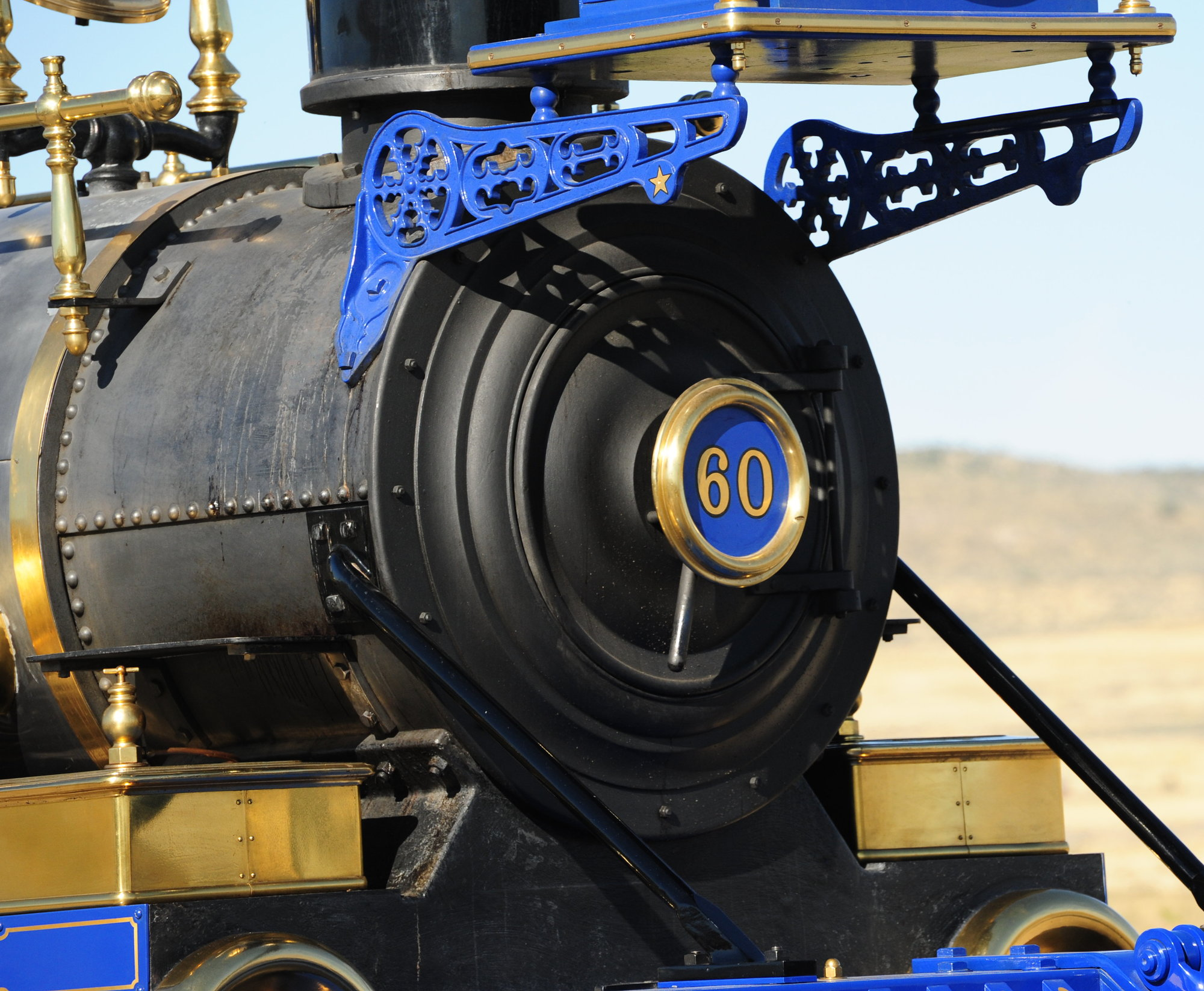 locomotive at Promontory Summit, Utah, site of golden spike