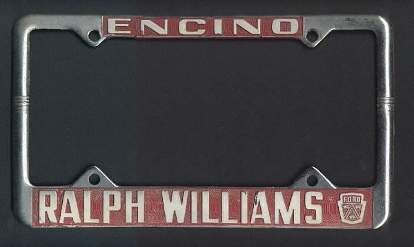 [License plate frame]