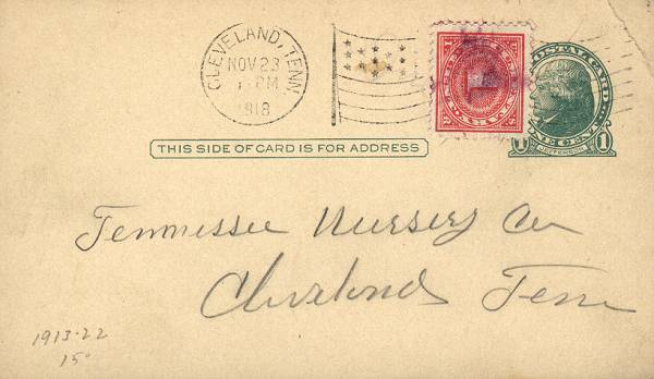 [Revenue Stamp as Postage Due]