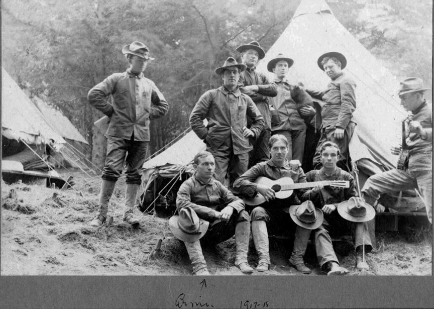 Photo showing members of the 102nd Spruce Spruce, Powers, Oregon