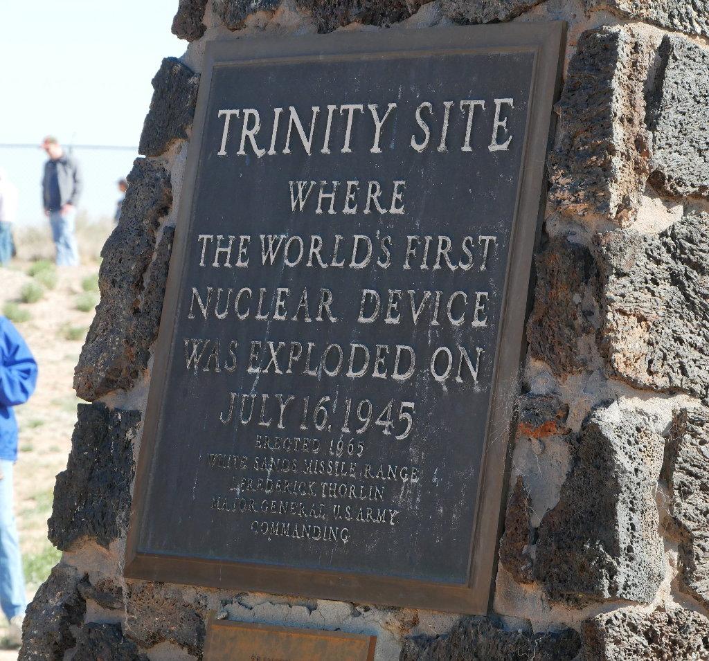 Monument at ground zero, trinity test site