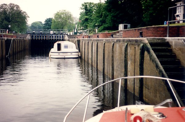 [Entering a Lock (lower position)]