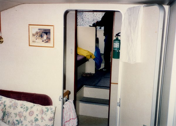 [Interior, Looking Aft Towards Eating Area and Rear Cabin]
