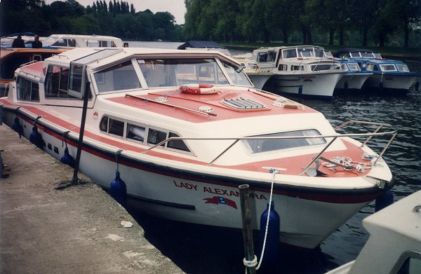 [Lady Alexandra at the Yard in Datchet (across from Windsor)]