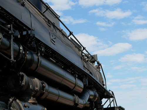 [Looking Up at the Union Pacific 4014 Locomotive  (it's big)]