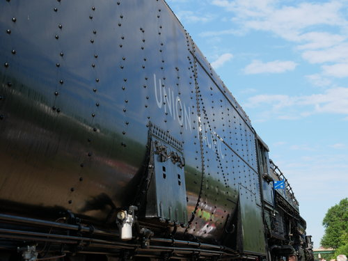 [Looking Up at the Union Pacific 4014 Locomotive Tender (it's big, too)]