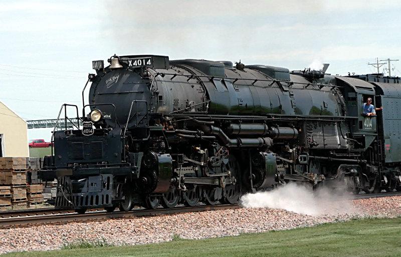 [UP 4014 Locomotive at Arcadia, Iowa]