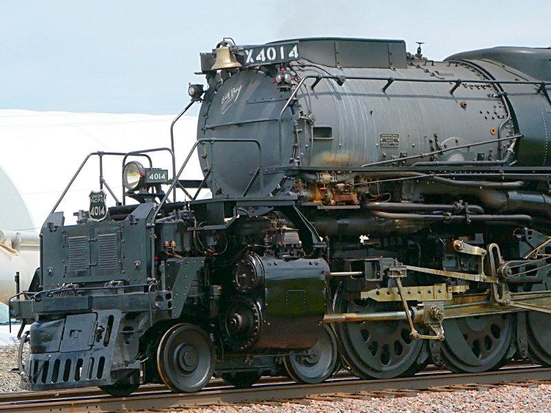[UP 4014 Locomotive Front at Arcadia, Iowa]