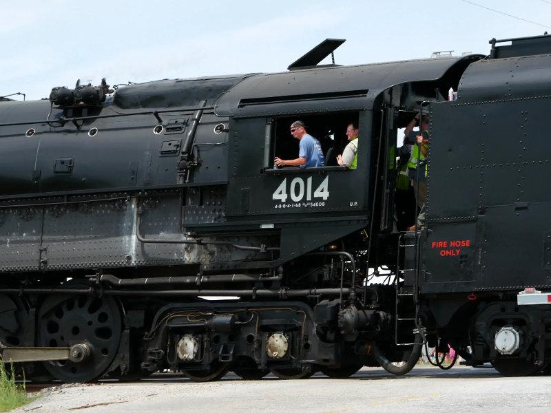 [UP 4014 Locomotive Cab at Arcadia, Iowa]