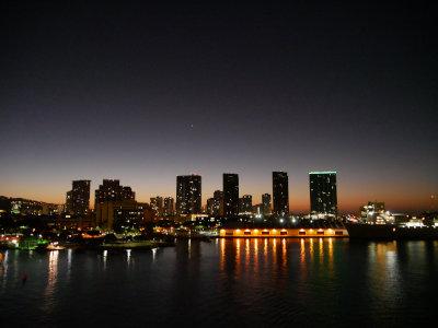 [Honolulu Skyline at Sunrise]