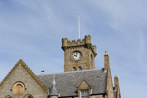 [Clock Tower on Building in Lerwick Town]