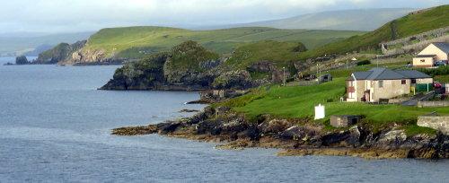 [Coastline Near Lerwick, Scotland, Harbor]