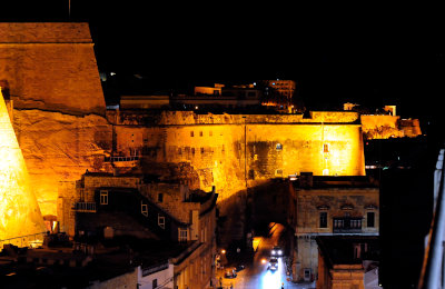 [Night Shot of Malta Harbor]
