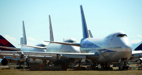 [Lineup of 747's]