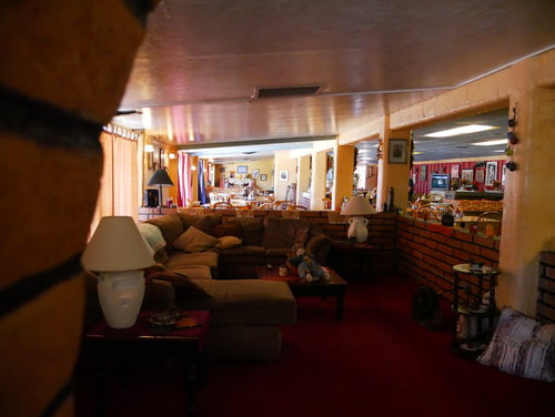 [Overview of lounge at bar/restaurant at Pinal Airpark]