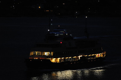 [Sydney Harbor Ferry at Night]